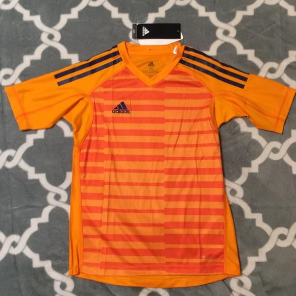 ADIDAS youth boy shirt orange climate youth small